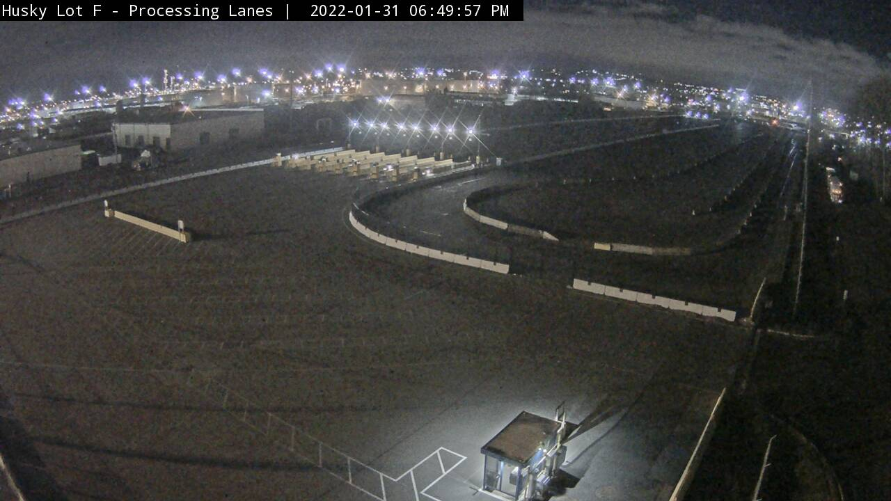 Lot F Processing Lanes